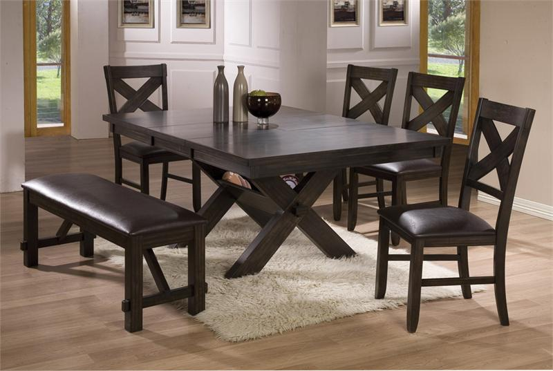 Picture of: dining table with bench wood