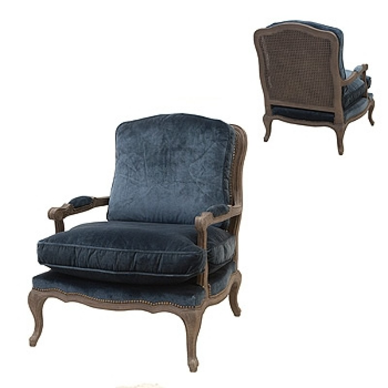 Image of: example of blue accent chair