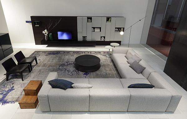 Image of: fascinating gray sectional sofa