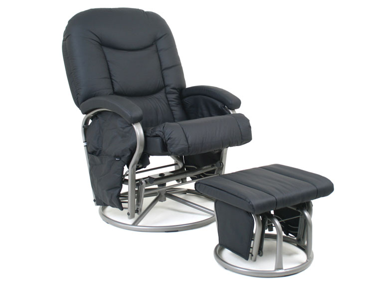 Picture of: glider chair black.