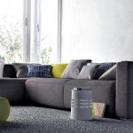 gray sectional sofa and accessories