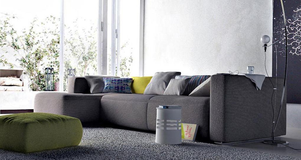 Image of: gray sectional sofa and accessories