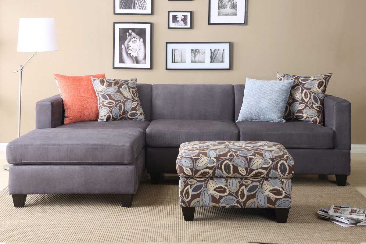 Image of: gray sectional sofa and pillow