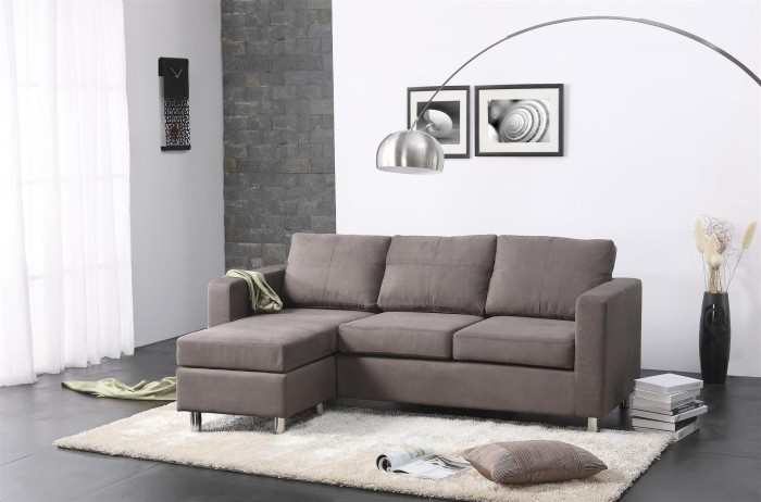 Image of: gray sectional sofa design