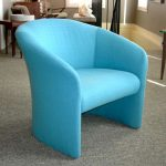 great ideas for blue accent chair