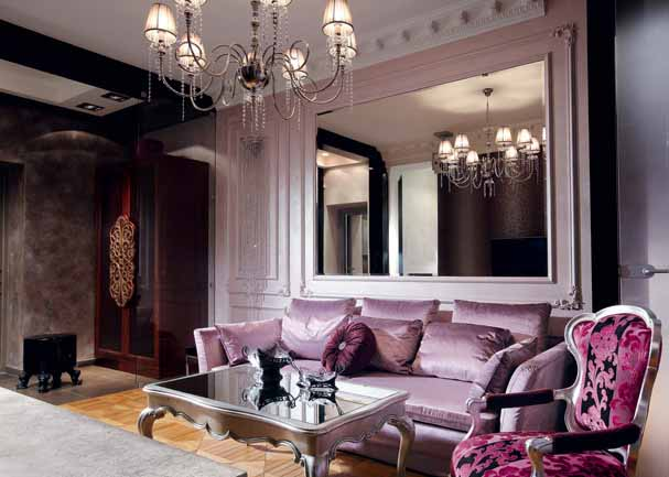 Picture of: luxurious purple couch