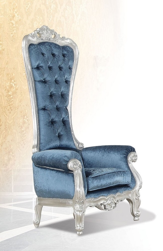 Image of: luxury blue accent chair