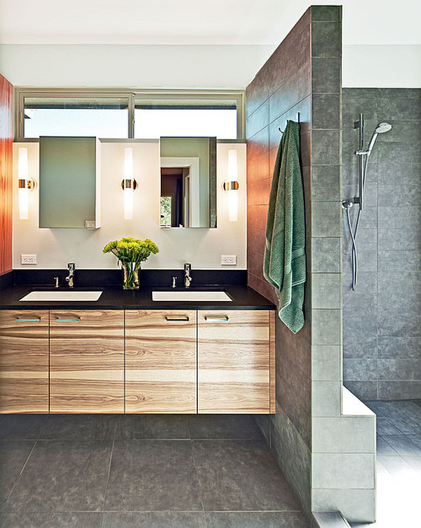 Image of: modern bathroom lighting picture