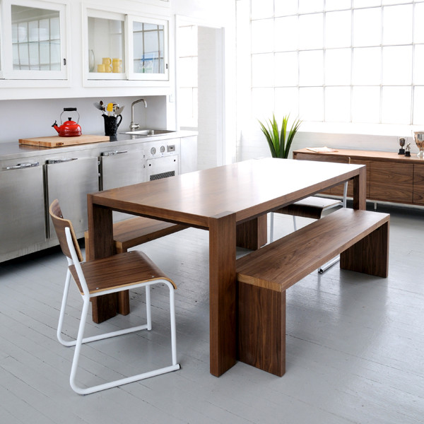 Picture of: modern dining table with bench ideas design