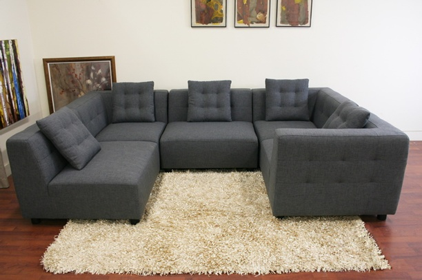Image of: modern gray sectional sofa