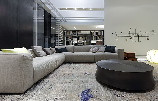 Image of: new gray sectional sofa
