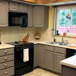 painted kitchen cabinet refinishing