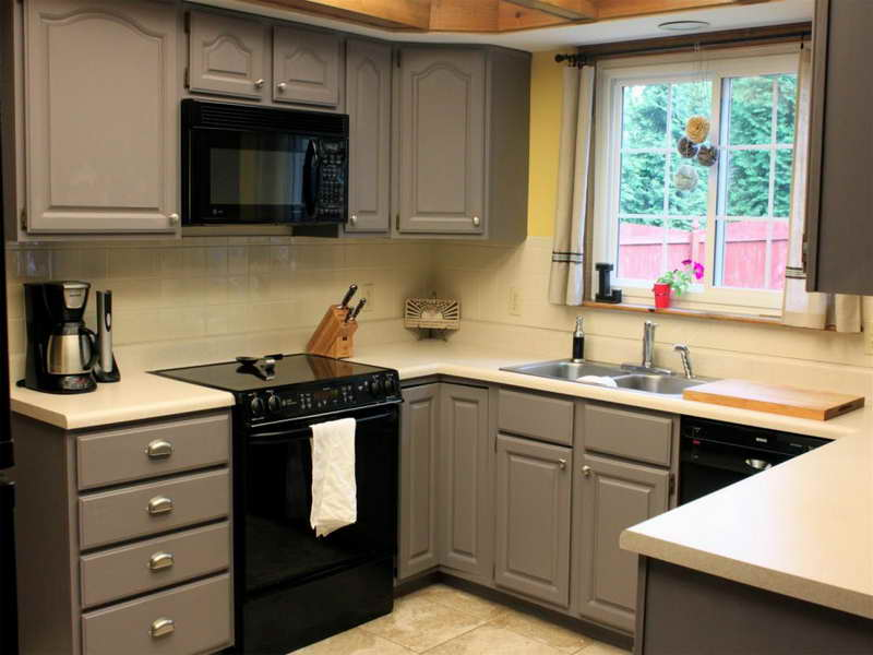 Picture of: painted kitchen cabinet refinishing