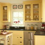 painting kitchen cabinets Yellow Color