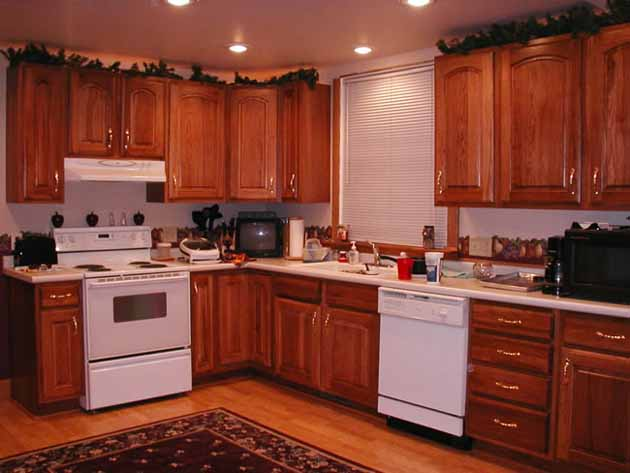 Image of: painting kitchen cabinets wood diy