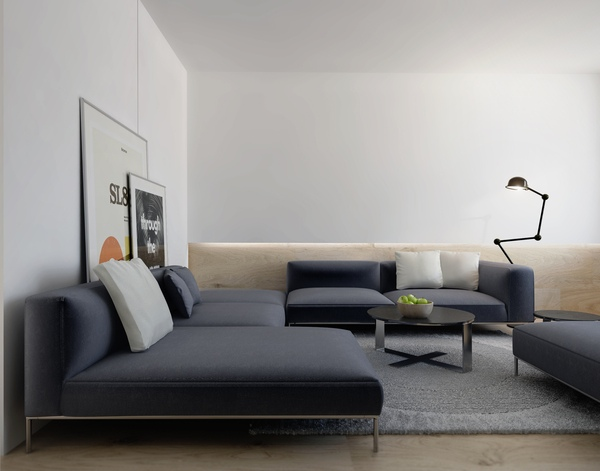 photo of gray sectional sofa