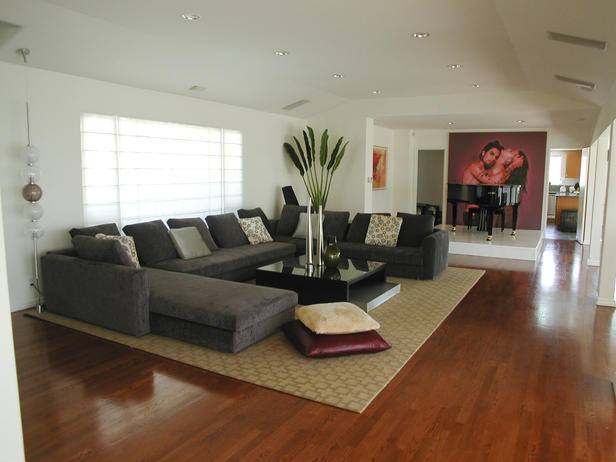 photo of living room sectionals