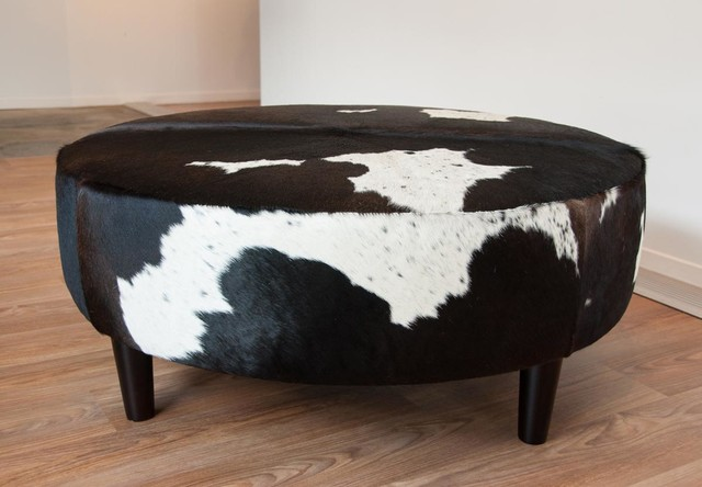Picture of: popular black leather ottoman