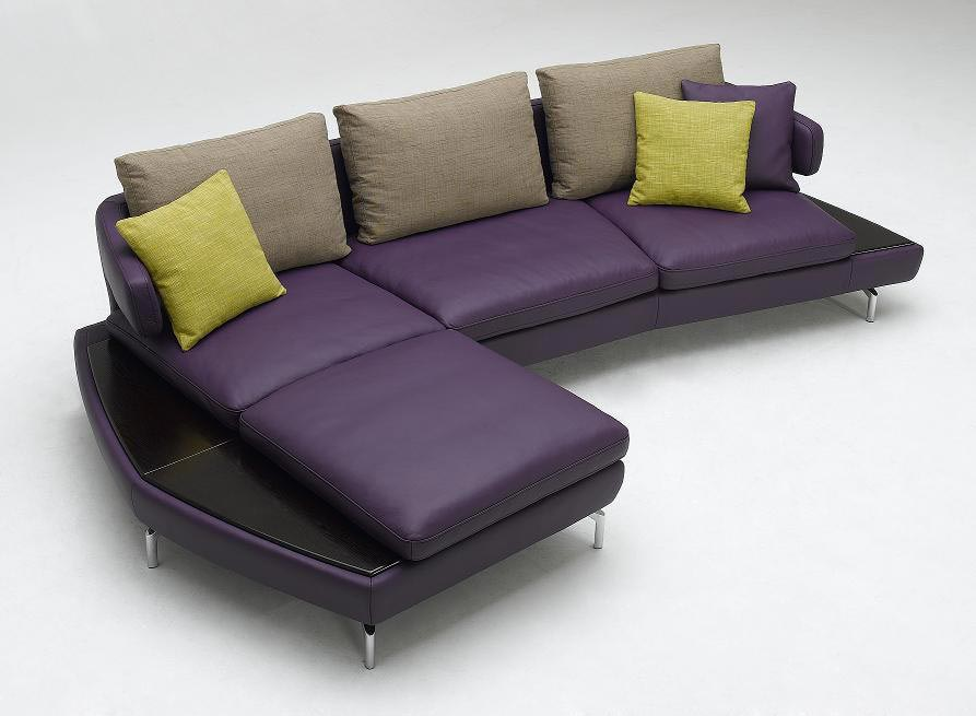 Picture of: purple couch and pillow