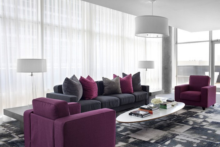 Picture of: purple couch living room