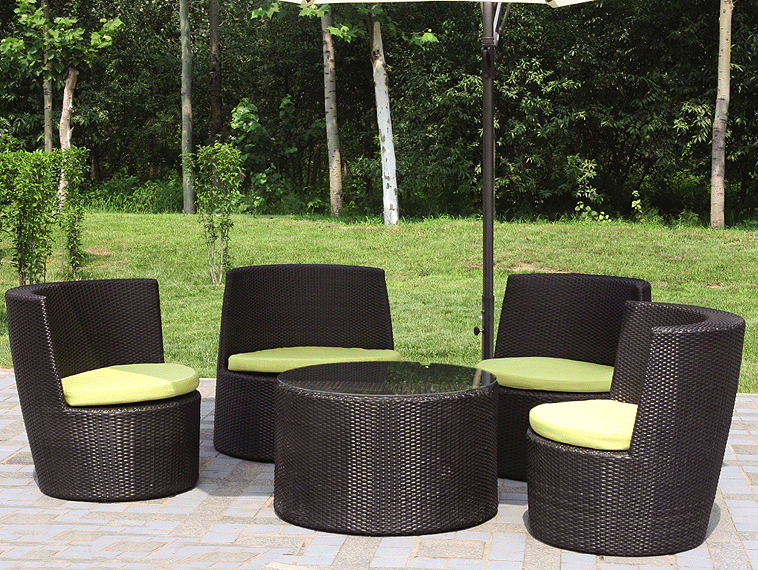 Image of: rattan furniture set outdoor