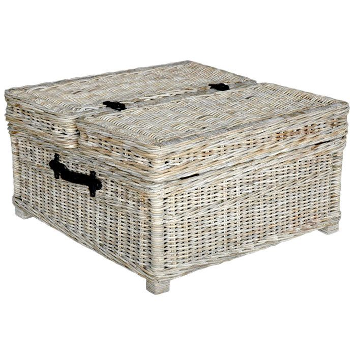 Image of: rustic wicker coffee table