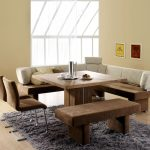set dining table with bench