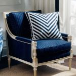 Simple Blue Accent Chair
