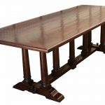trestle dining table design clasic