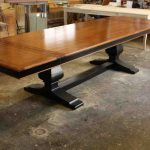 trestle dining table design luxury image