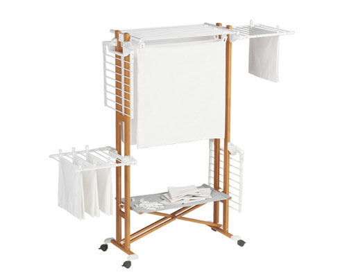 Image of: wood laundry drying rack simple