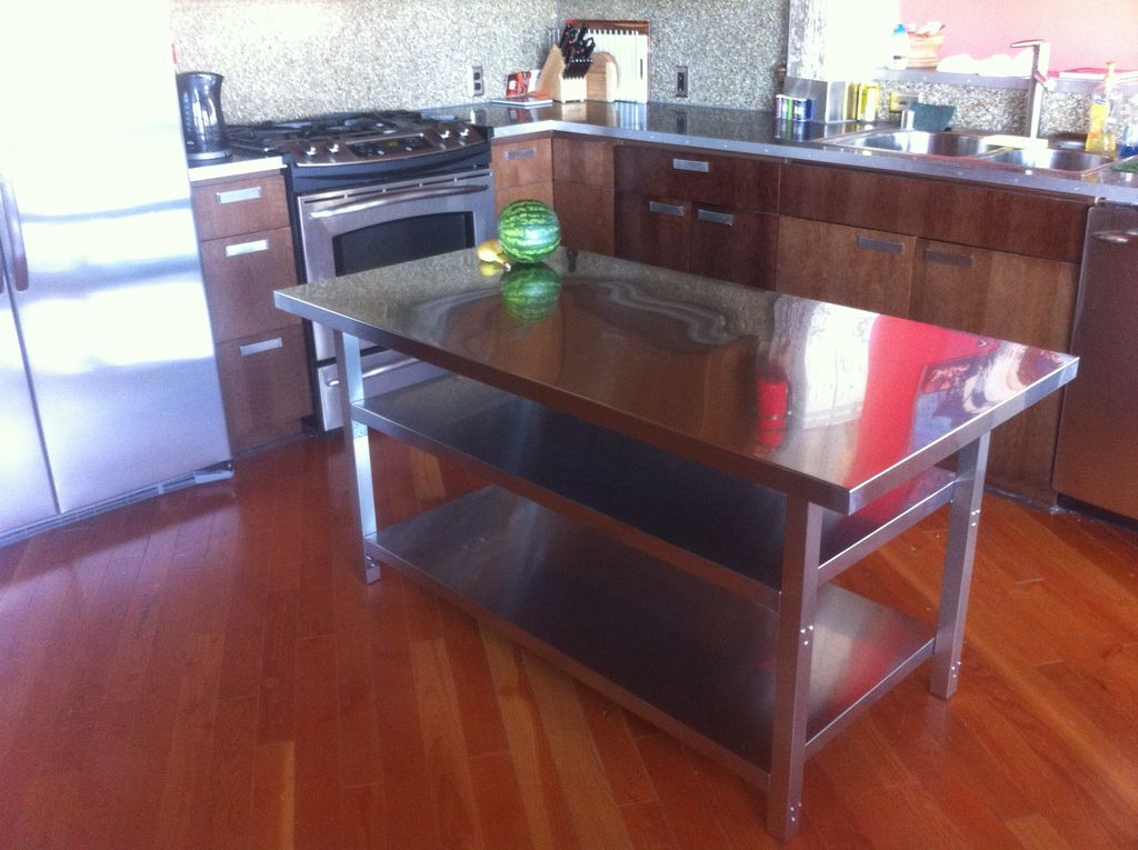 Picture of: IKEA stainless steel prep table