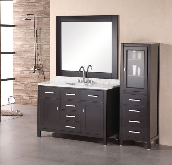 Picture of: black 48 bathroom vanity