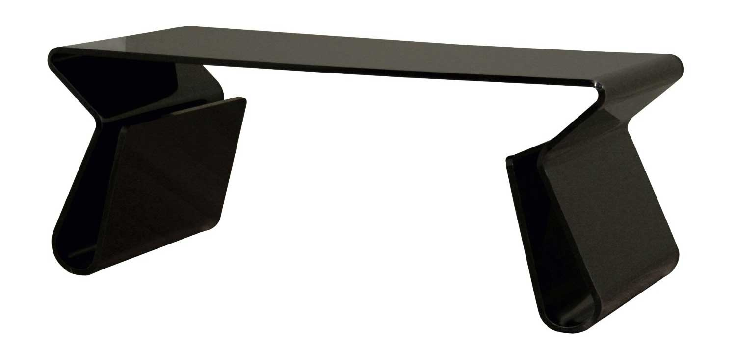 Image of: black lucite table