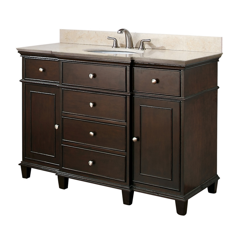 Picture of: dark brown 48 bathroom vanity