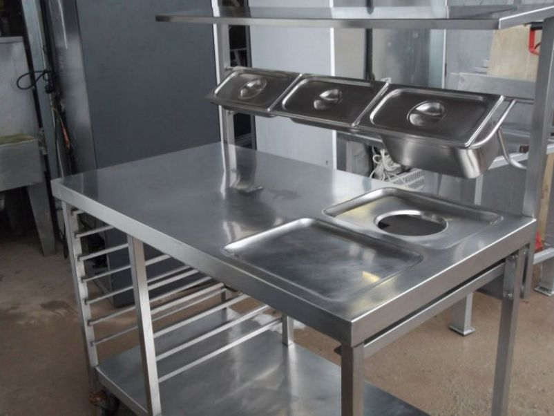 Picture of: design of stainless steel prep table