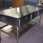 design stainless steel prep table