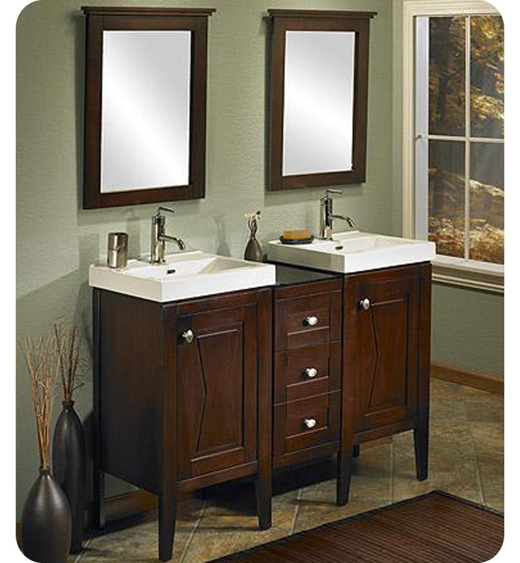Picture of: double 48 bathroom vanity