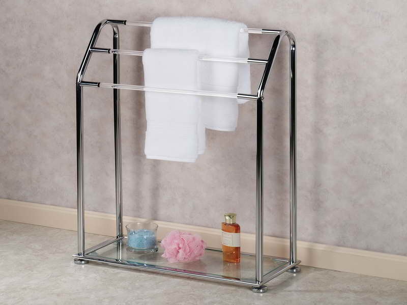 Image of: free standing towel rack design