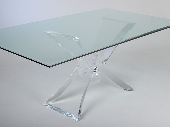Image of: lucite table for dining room
