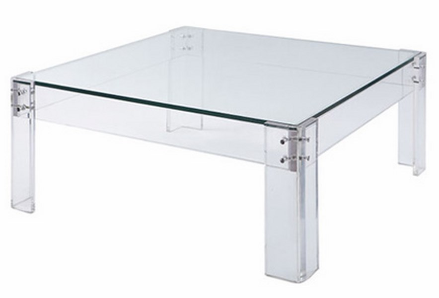 Image of: lucite table