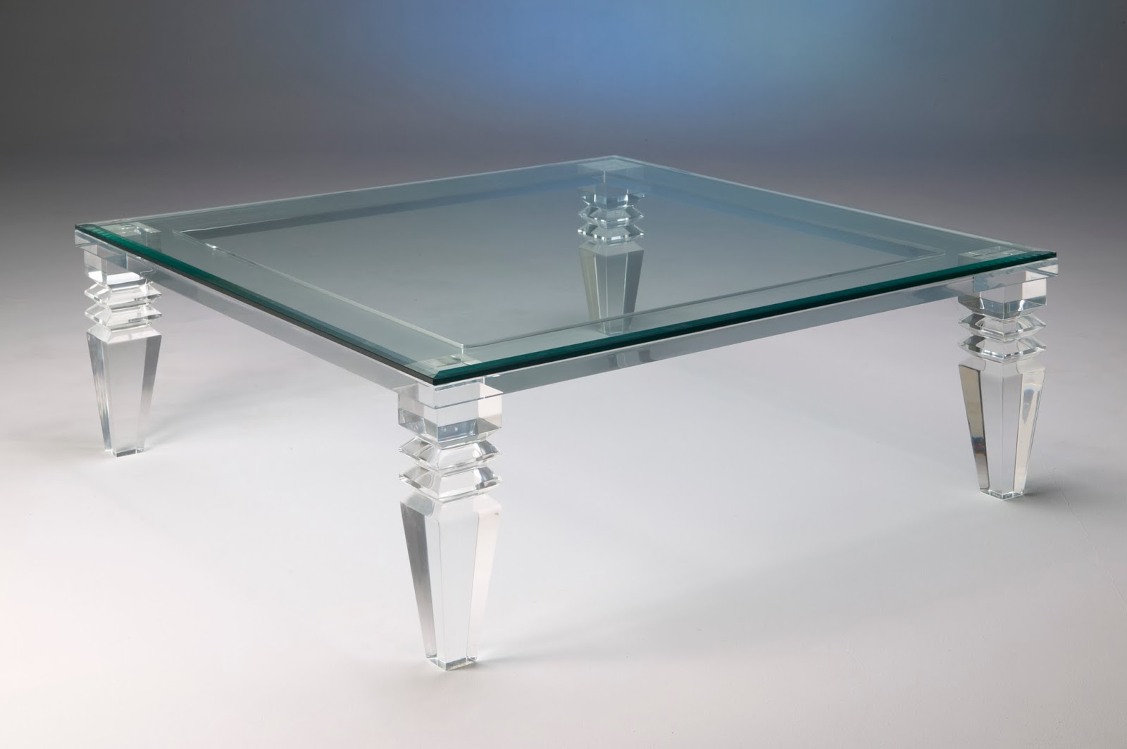 Image of: modern design lucite table
