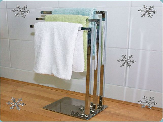 Image of: modern free standing towel rack