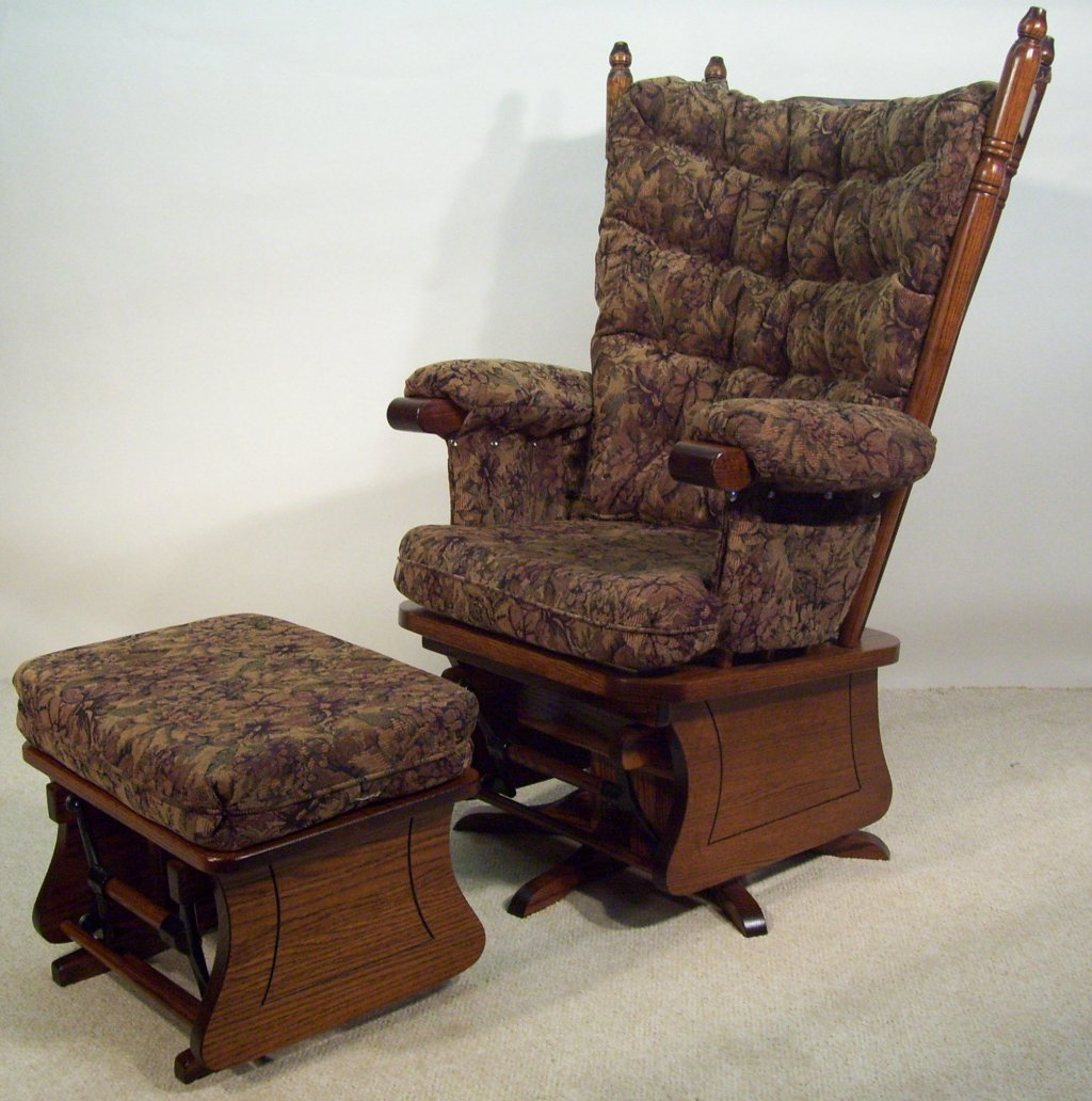 Picture of: ottoman swivel glider chair