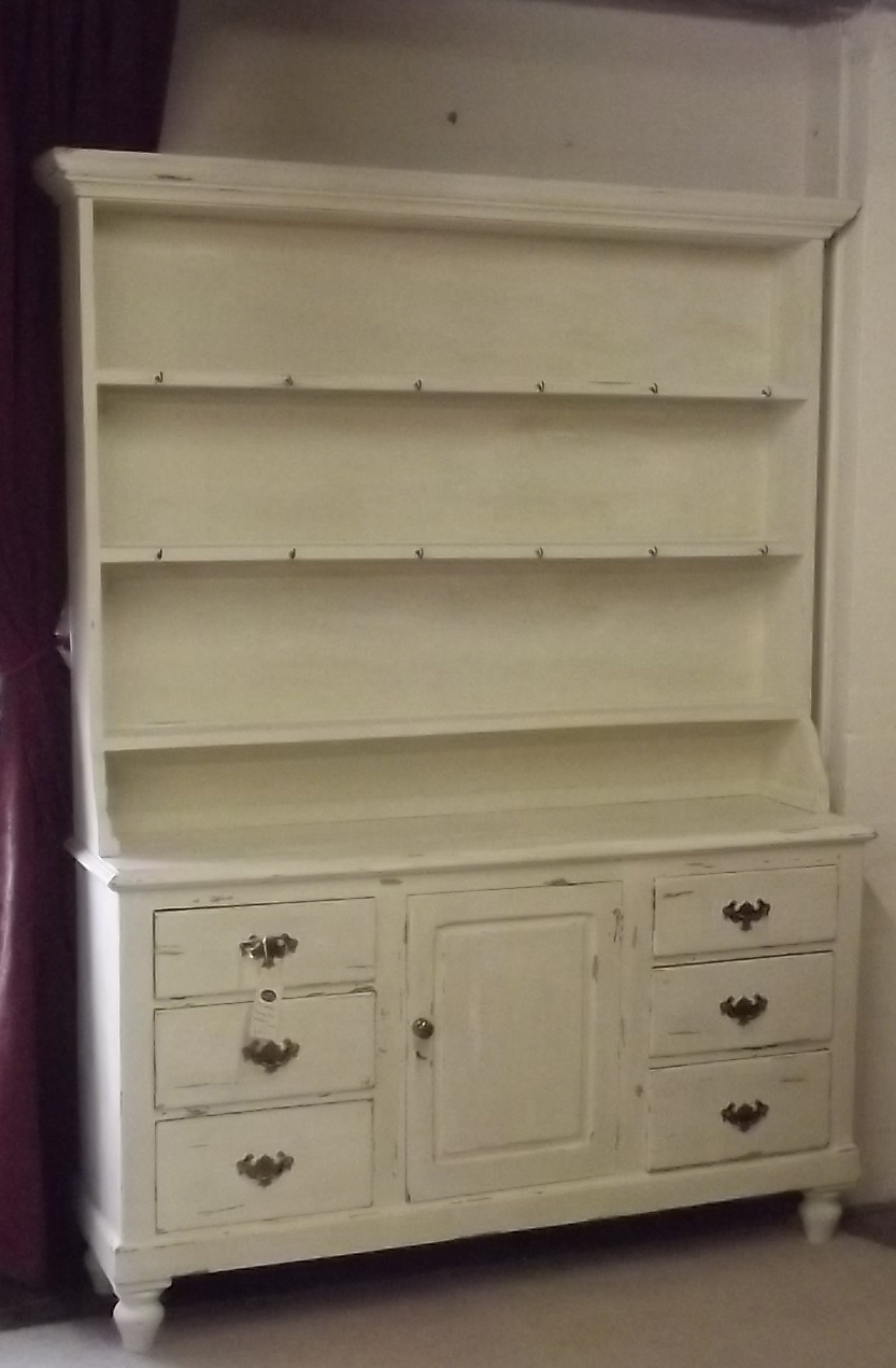 Image of: pine dresser white color