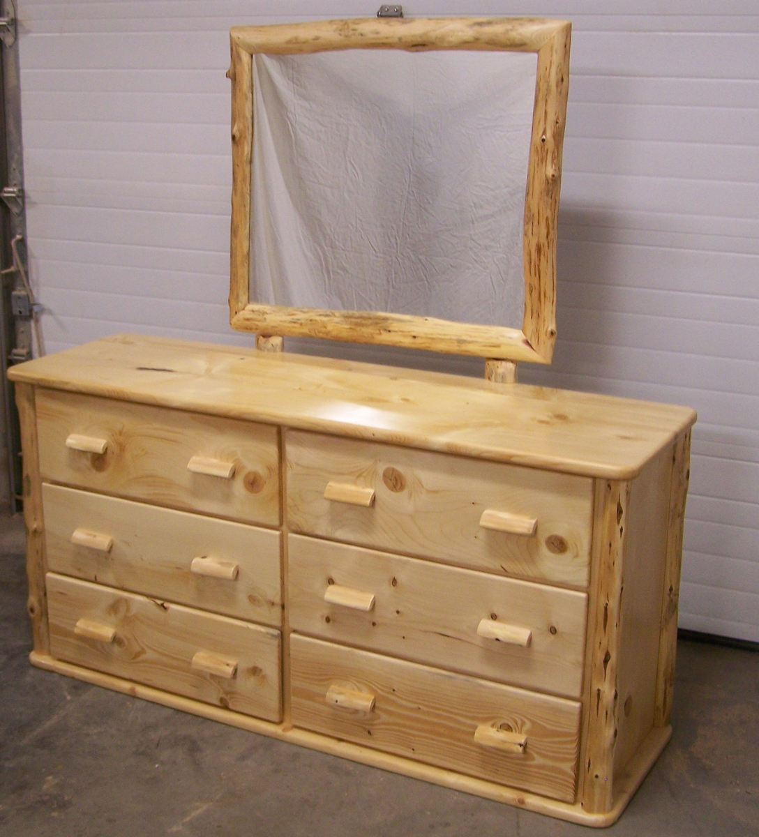 Picture of: pine dresser with mirror