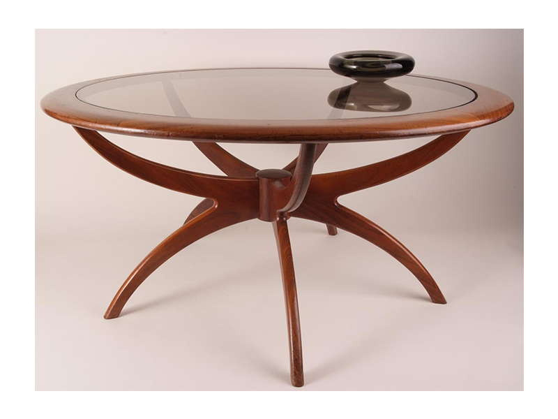 Picture of: round mid century modern coffee table