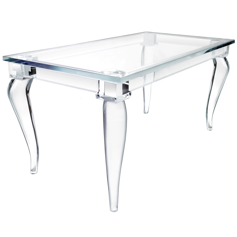 semi modern lucite table