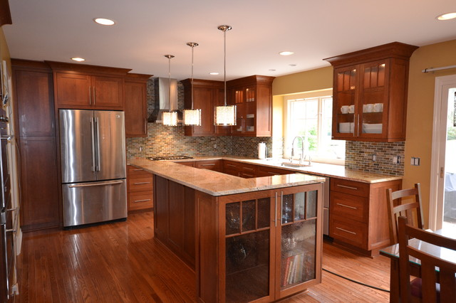 Image of: shaker style cabinets wood cherry