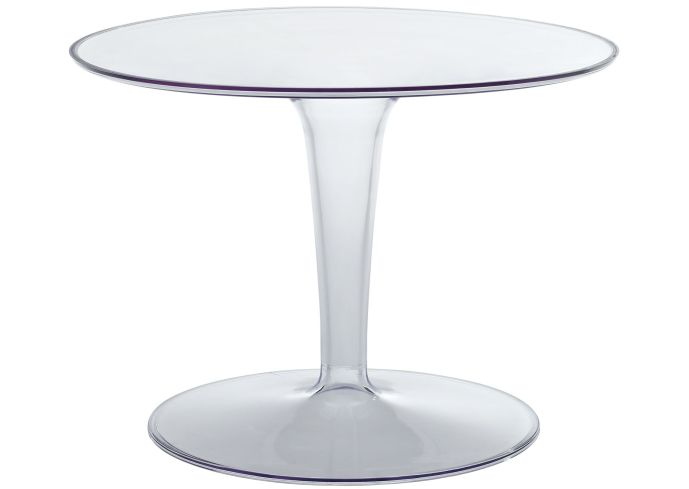 Image of: simple round lucite table